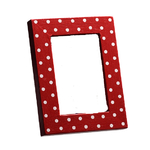 Photo frame with Red & White Dots