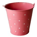 Colourful tin bucket